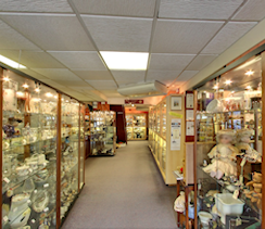 Inside the antiques centre